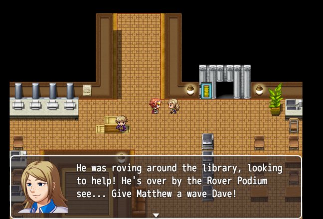 The making of a Library Induction Game with RPG Maker MV